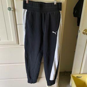 Puma Black & White Sweatpant Joggers